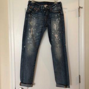 True Religion distressed jeans